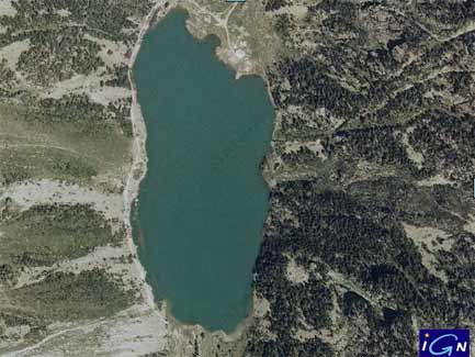 lac de gaube - vue satellite