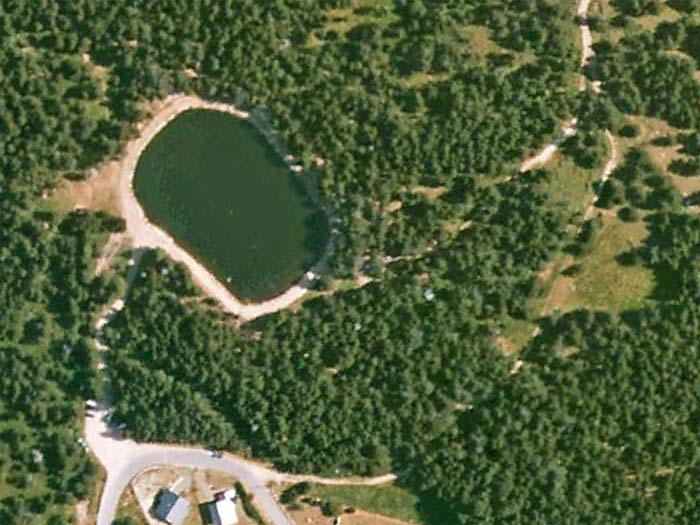 Lac du Ticou - @ Google Earth