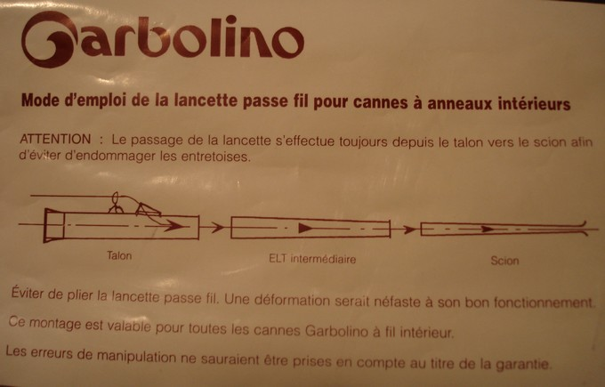 canne carbolino a amanchement avec fil interieur - La pêche au toc ...